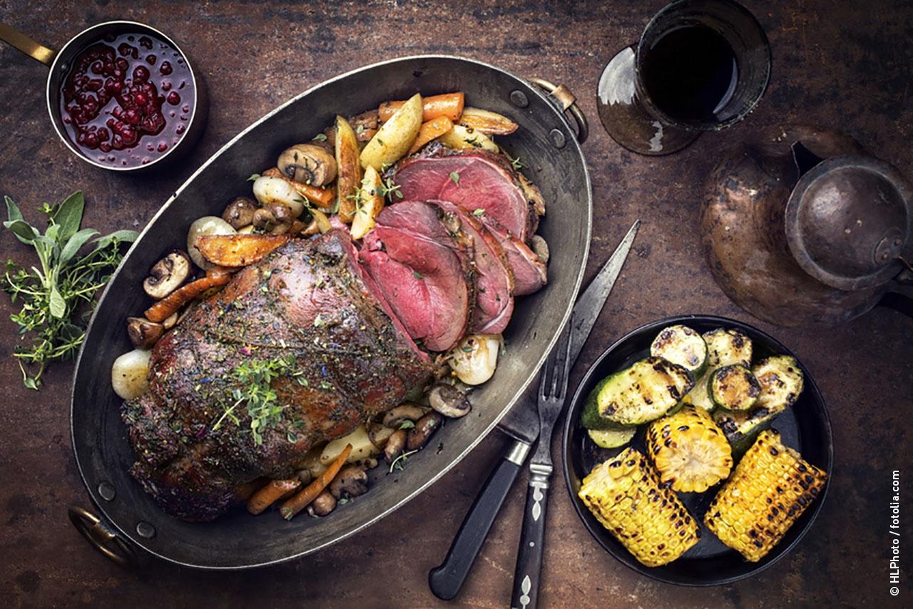 Wildfleisch Zubereitung als Festtagsessen